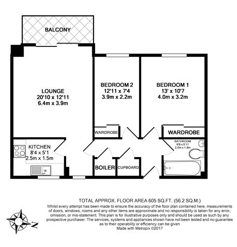 Floorplan - 2 Bedroom Apartment for Sale